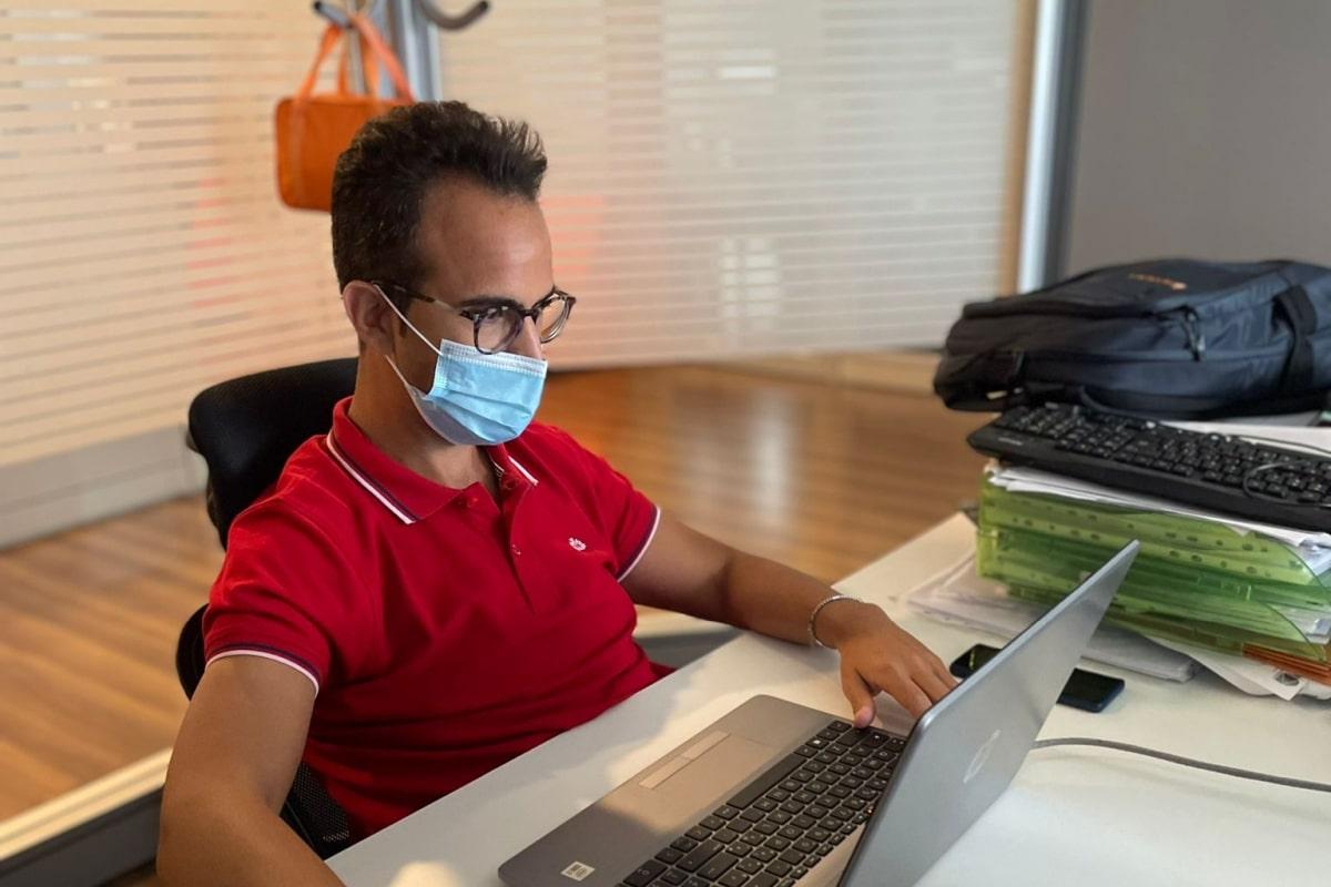 Angelo Corrado al lavoro